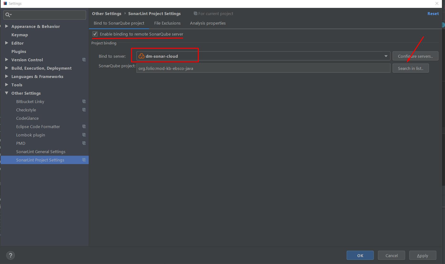 How to configure Intellij IDEA SonarLint plugin (DRAFT