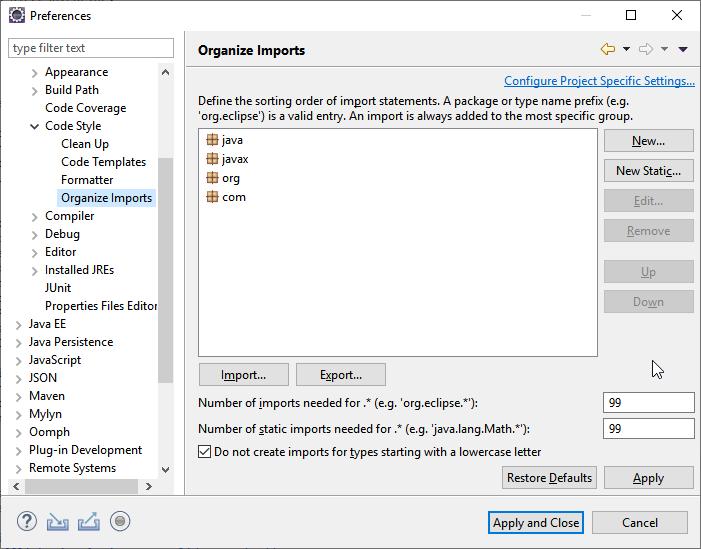 Java code formatter for IDEs - Folio EPAM Development Team